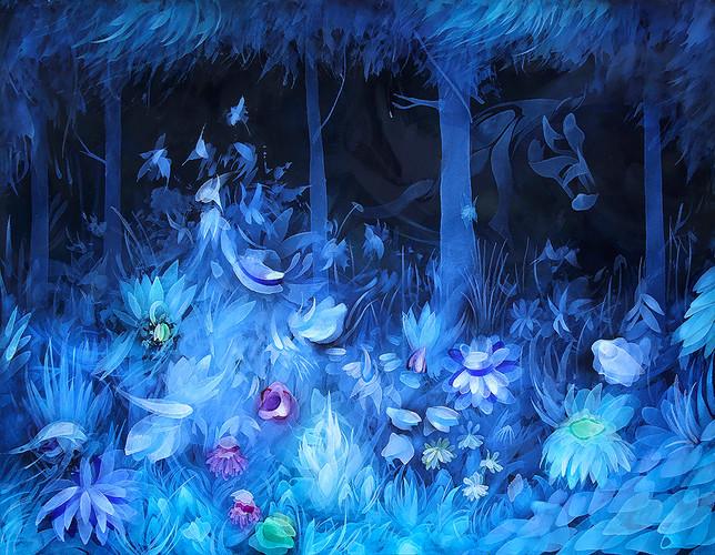 10. Naturaleza Azul, 100 x 120 cm