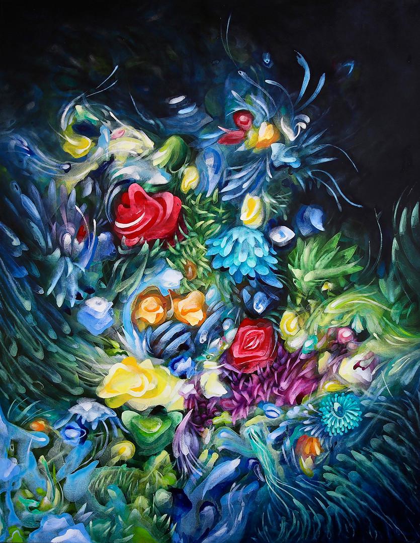 9. Flores #10, 100 x 120 cm