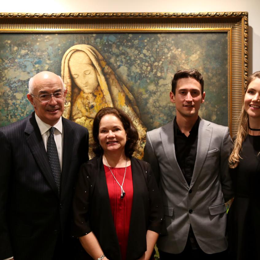 Con el embajador de Colombia Sr. Alejandro Borda y Sra.