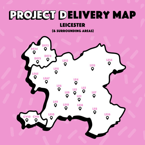 Leicester- Delivery Map