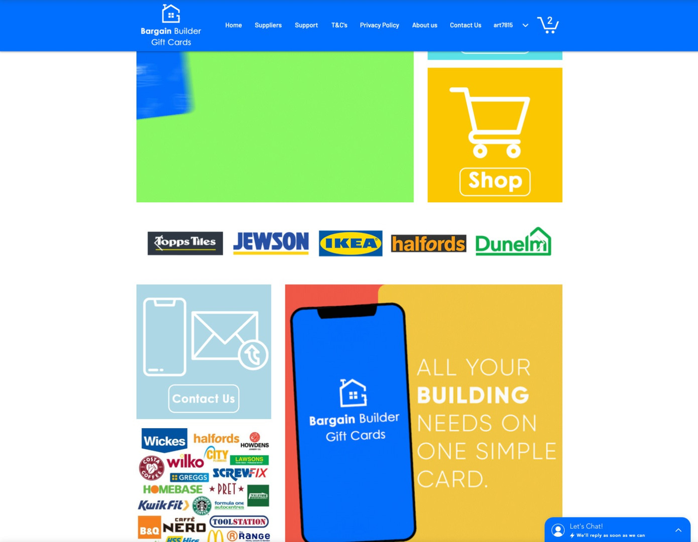 Bargain Builder Website