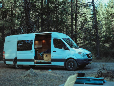 Shane's Beautifully Hand-Crafted Wooden 2013 Mercedes Sprinter Van Conversion