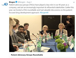 Biogen Hosts Roundtable to Gather Input on Patient-Focused Drug Development