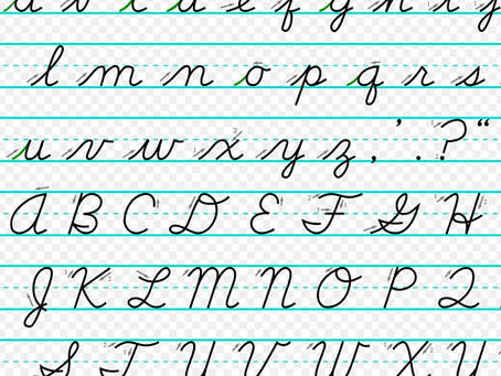 Childrens' handwriting is learned many ways