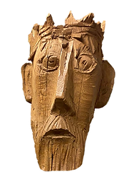 Wooden Mask of Jesus