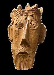 Wooden Mask of Jesus