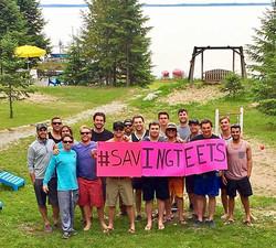 boys saving teets