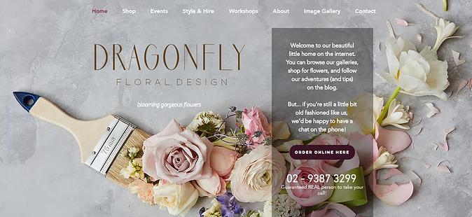 Dragonfly Floral Design site