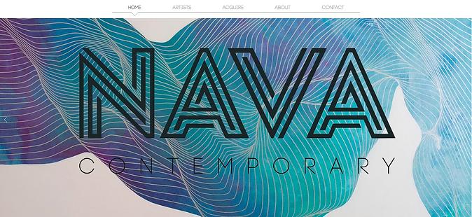Nava Contemporary Art website
