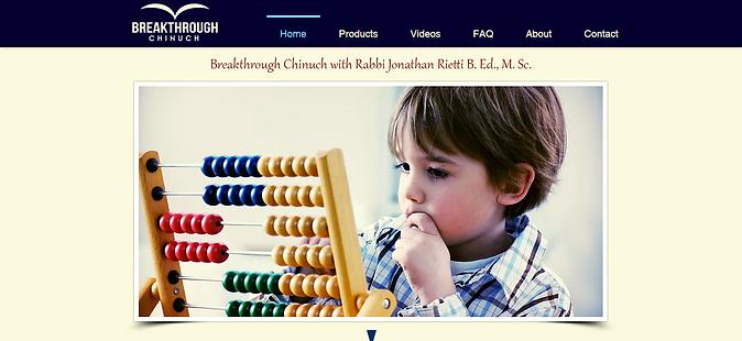 Breakthrough Chinuch website