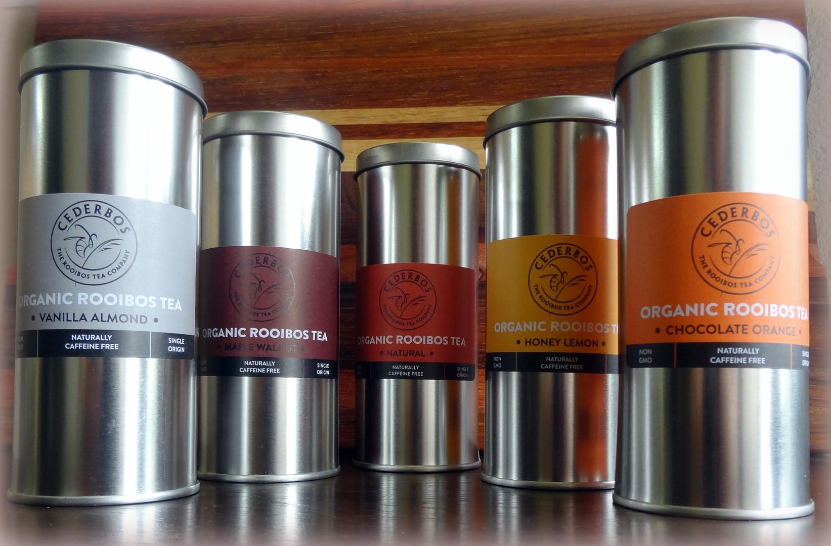 Cederbos Organic Rooibos Tins.JPG