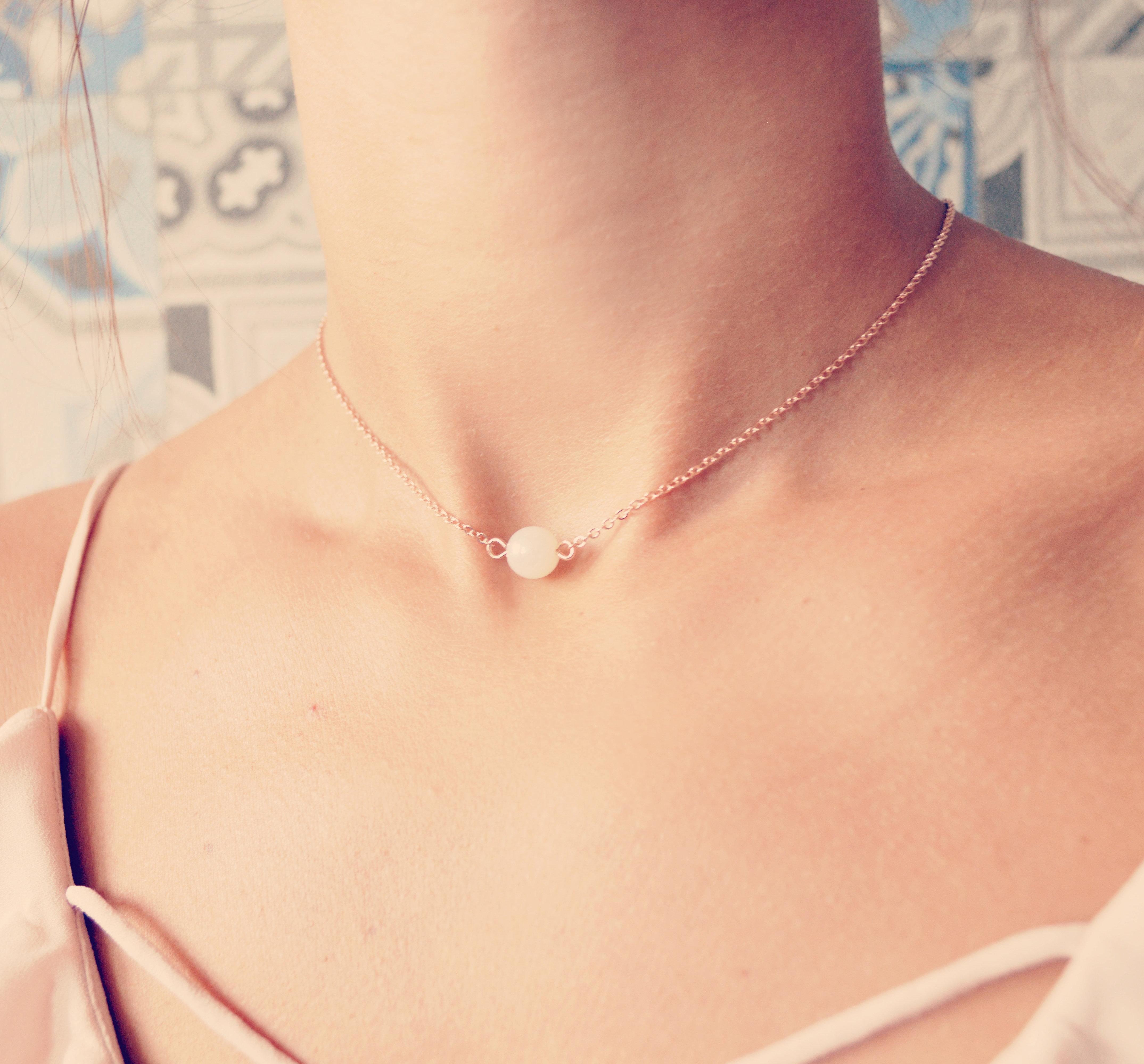 collier perle dos mariage