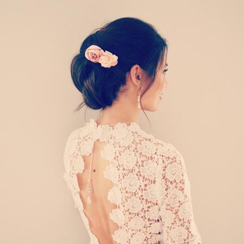 Accessoires cheveux rose poudre - Couleur qui s accorde ...