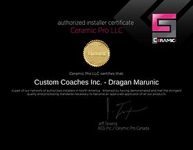 Ceramic Pro Certificate Dragan Marunic.p