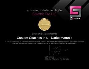Ceramic Pro Certification Darko Marunic