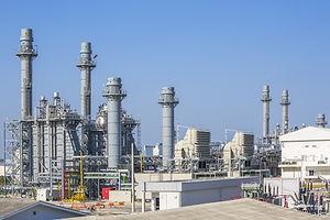 Gas turbine power plant with blue sky.jp