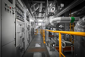 equipments, pipes in a modern thermal po