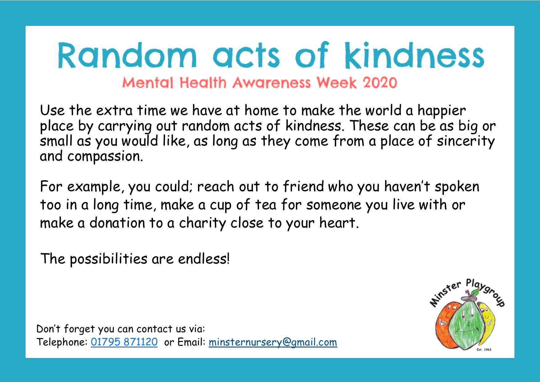 acts of kindness May 2020