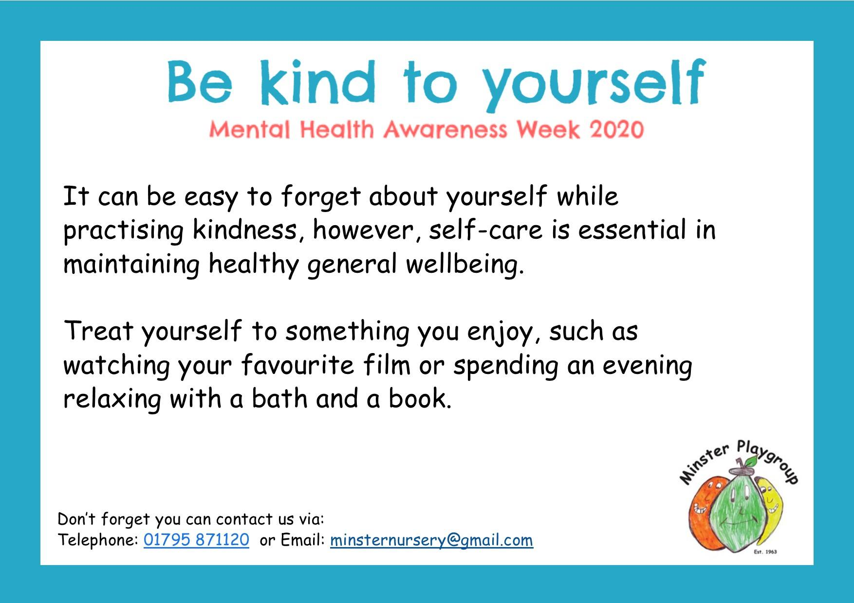 be kind to yourself May 2020