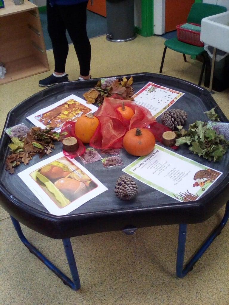 Autumn tuff tray 2020