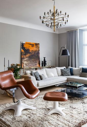 Ele's living room in Kruunuhaka