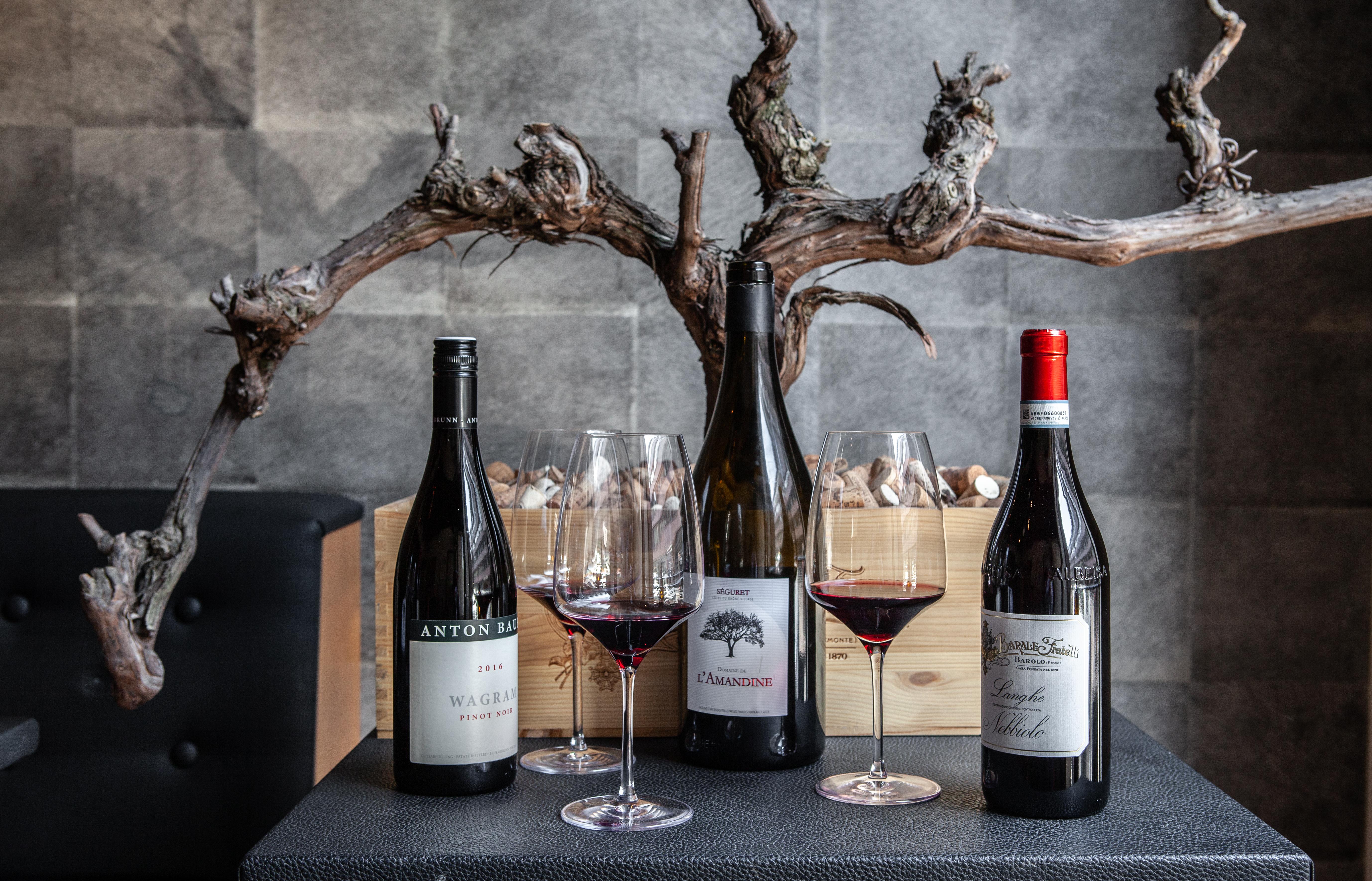 Fine wines at Passio