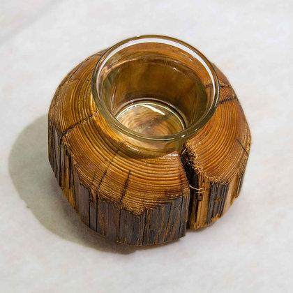 Teelichthalter Altholz
