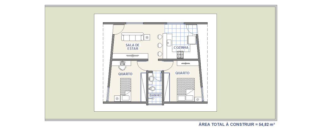 Casa WR2   Casa com 2 Quartos   Plantas de Casas