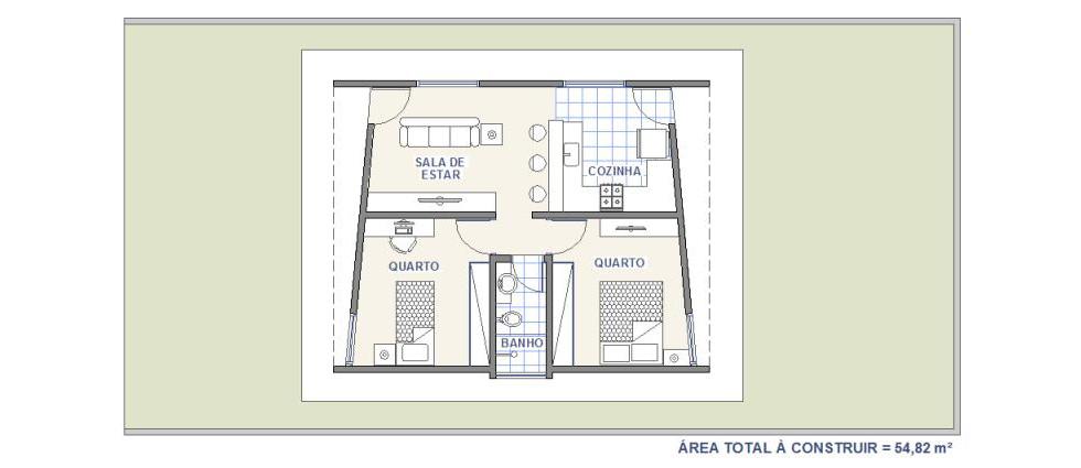 Casa WR2 | Casa com 2 Quartos | Plantas de Casas