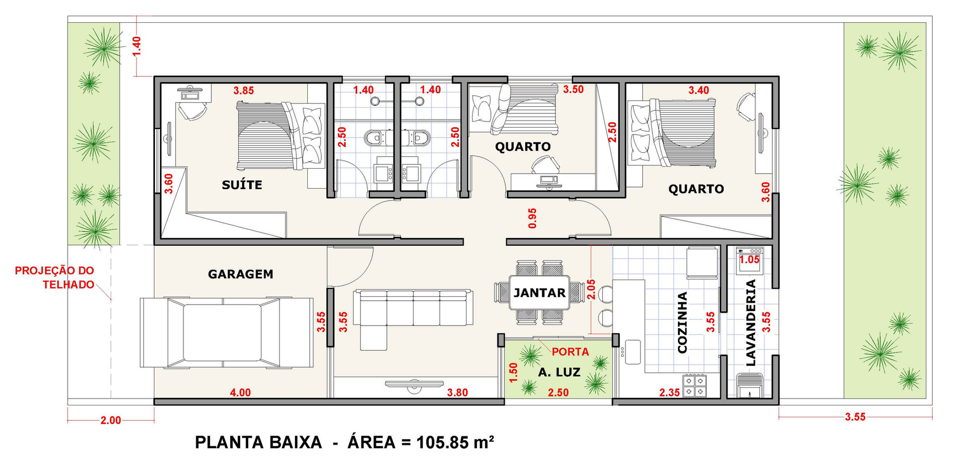 Casa EZ3 - Planta