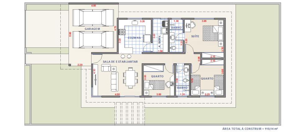 Casa DF3 - Planta