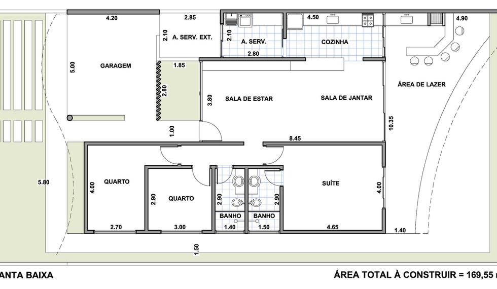 Planta Casa 3 Quartos MT3