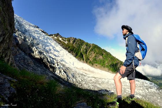 Face au glacier des Bossons