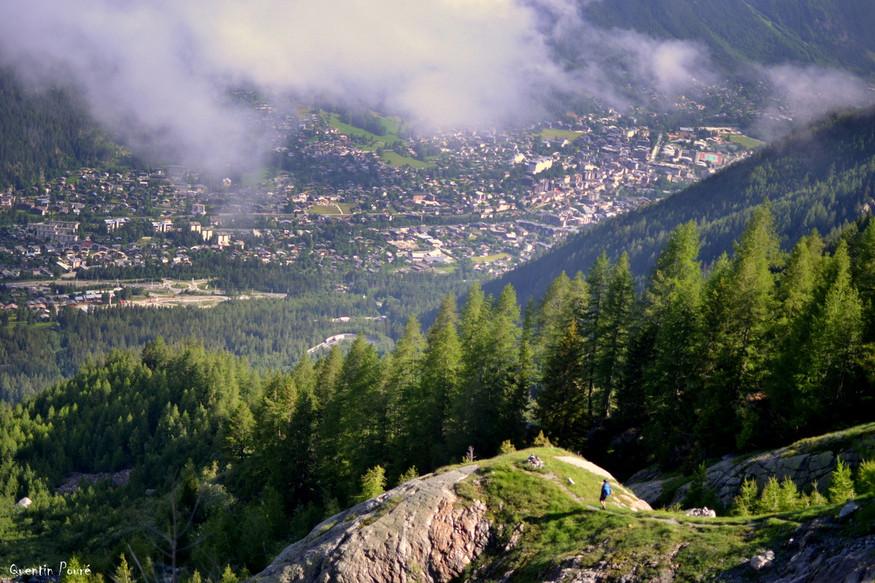 En amont de Chamonix