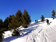 En direction du sommet de Prarion.