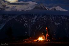 Bivouac face au Mont Blanc.