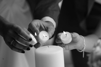 A unity candle ceremony