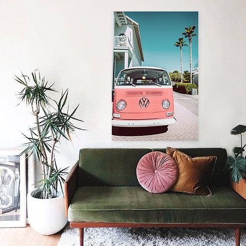 Seaside Pink VW Canvas