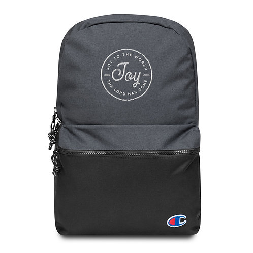 Joy to the World Embroidered Champion Backpack