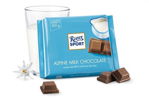 Ritter SPORT ALPINE MILK CHOCOLATE 100g