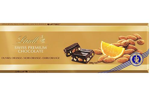 Lindt Swiss Premium 300 GM Almonds & Orange