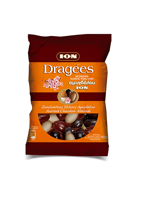Ion Dragees Assorted Chocolate Almonds 200g