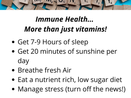 Immune Health... More than just popping vitamins