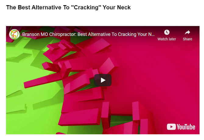 """The Best Alternative To """"Cracking"""" Your Neck"""
