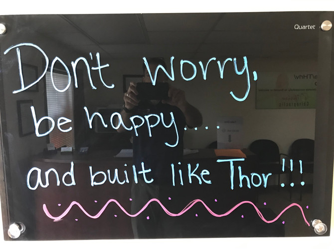 Don't Worry, Be Happy . . . And Built Like THoR
