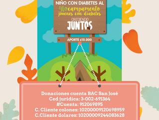 Patrocinio al cuarto campamento de niños y adolescentes con diabetes 2017.