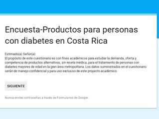 Encuesta para mejorar la accesibilidad de insumos para DT1 y DT2 en Costa Rica