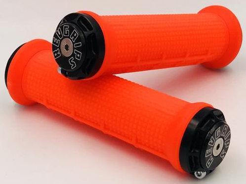 REVGRIPS – Pro Series HALF-WAFFLE (31 mm) – Neon Orange