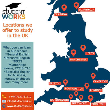 locations we offer to study in the UK .j