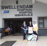 Baby blankets and gift from across the waters for Swellendam Hospital.